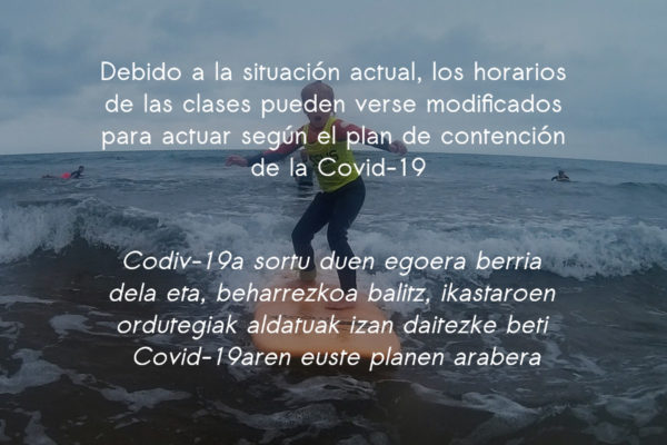 Informazio kartela Covi-19 - Essus Surf Eskola
